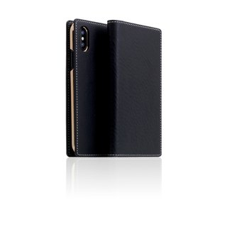 SLG Design iPhone Xs / X D6 IMBL Handmade Line Top Leather Case - Black