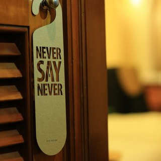 "【EyeDesign see design】 one sentence hanging ""NEVER SAY NEVER"" D18"