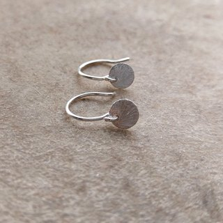 Sterling Silver Mini Disk Earrings