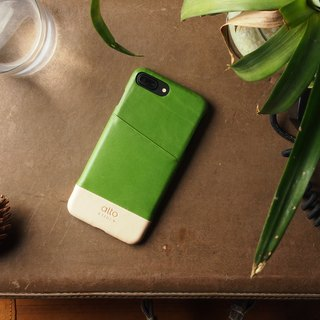 Alto iPhone 8 Plus Leather Case Back Cover 5.5吋 Metro - Lyme Green / Natural
