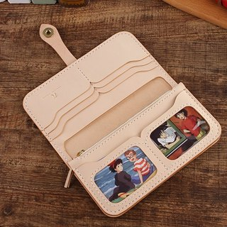 [Cut line] pure hand two fold photo clip separate long wallet 012 primary colors
