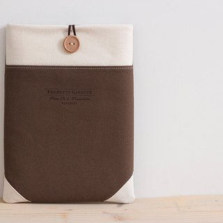 Laptop case Macbook cover PC case / Brown & cream