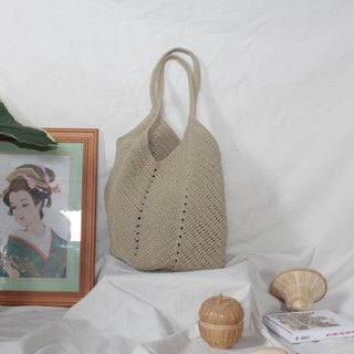 Khaki Tote bag ,Market bag ,Crochet bag ,Shopping bag