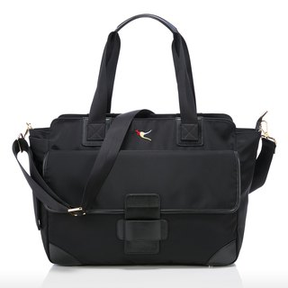 Mini Min Diaper/Travel Bag—Black