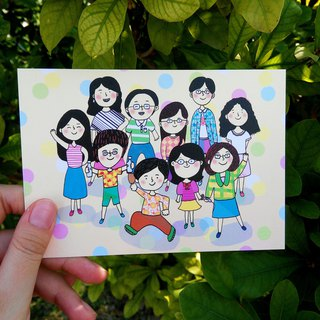 Also teacher and friend postcards (yellow)