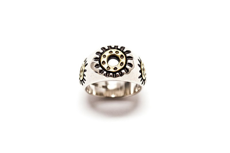 Dot ring 眼睛系列925純銀戒指