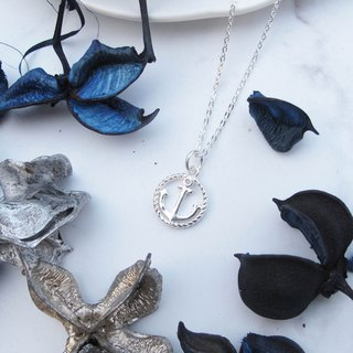 Big staff Taipa [manual silver] anchor × ocean wind × round × sterling silver necklace handmade