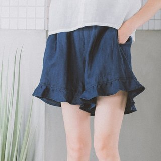 Beautiful day linen shorts - Navy