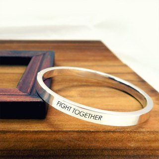Custom bracelet / bracelet lettering square wide version (L-openable) O-shaped bracelet sterling silver bracelet