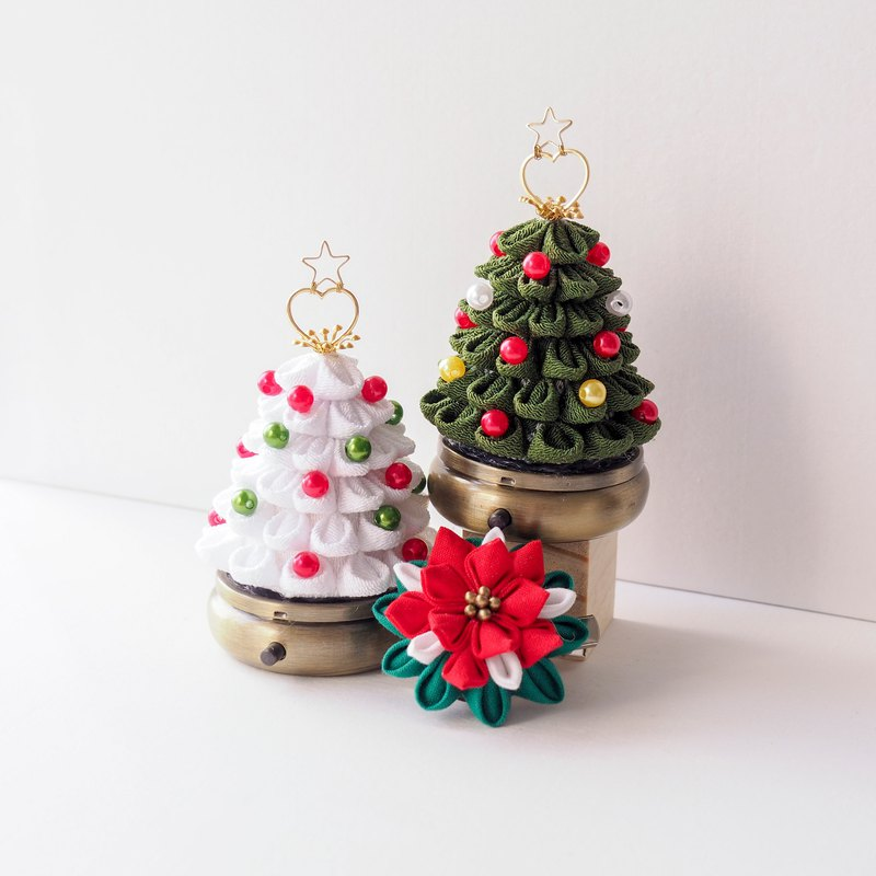 Little Green Fabric Christmas Tree Storage Box Custom