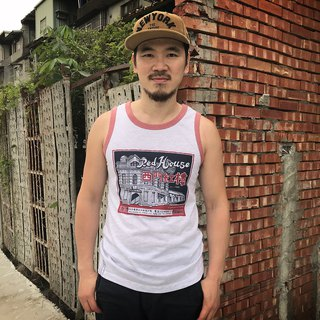 2018 retro vest / Ximen red building - summer limited edition release (light hemp gray rolling brick red)