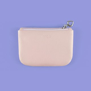 Color Block Coin Purse, Coin Pouch, Card Holder, Card Case, Pink and Lavender