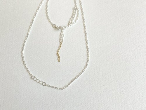 麦(necklace/White Silver color)