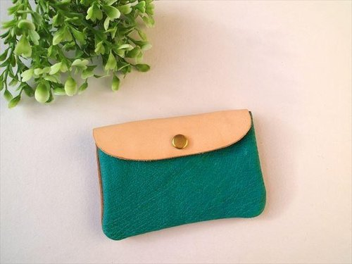 Pig leather soft card case [hand-dyed leather pass case] 1680017