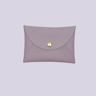 Multi-color genuine leather macarons lavender violet card holder/wallet/card holder/card case