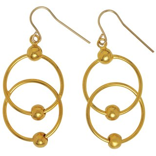 New classical art circle earrings
