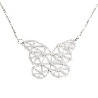 Abstract polygon butterfly necklace