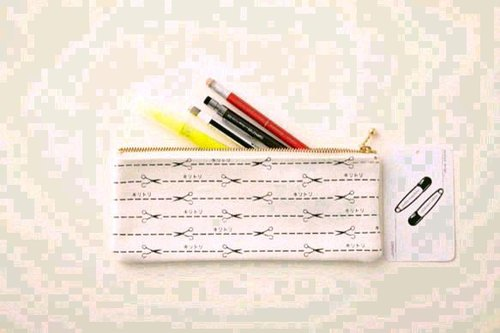Cut line border pencil box pencil case canvas