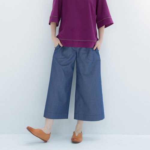 Sunrise Essays Cowboy Eighth Pants - Blue Copy