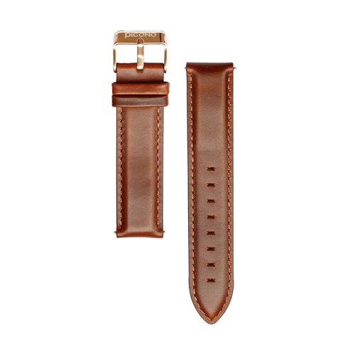 【PICONO】Quick release brown leather strap