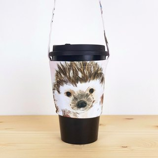 Small hedgehog environmental protection cup set / beverage bag