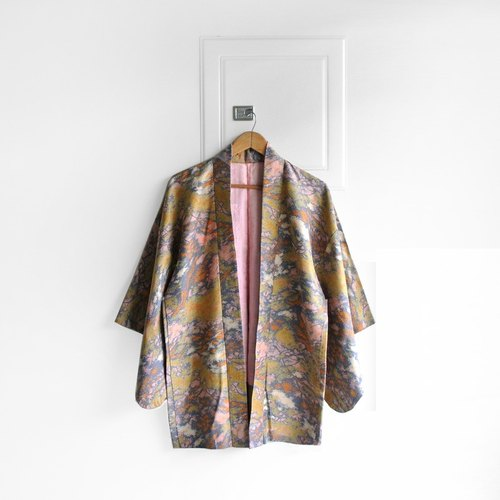 │Slowly│ Japanese Antiques - Light kimono coat G21│ .vintage retro vintage theatrical...