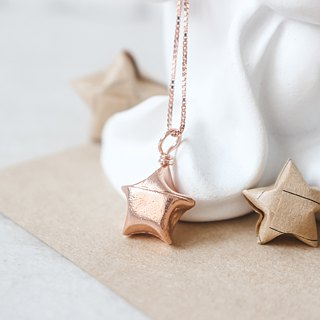 Silver Rose Gold Lucky Star Necklace / Lucky Star Necklace (not lettering)