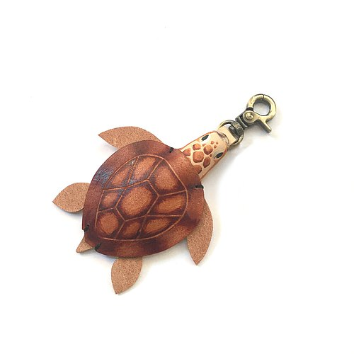 [Xuan Leather election. Leather] Animal Pidiao Ocean series [loggerhead turtle turtle] leather strap buckle hanging