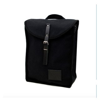 Mödernaked [Spain handmade] Heap Backpacks 100% cotton | Leather | stitching | after Drawstring Backpack (Black + Black side)
