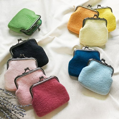 Woolen Felt Napkin / Coin Purse / Small Bag / Sliced ​​Bag