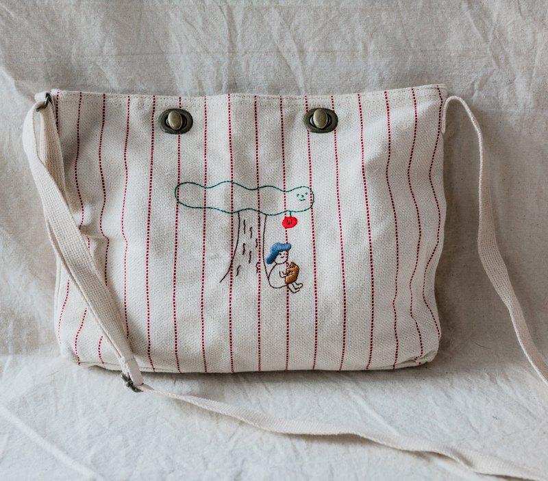 畫一個牛頓 / 斜背隨身包包