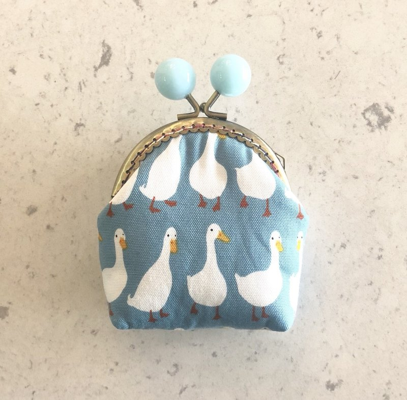 Little Rainbow Candy Gold Coin Purse - Blue Goose
