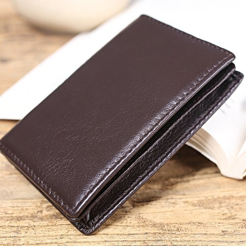 [Solomon] original design minimalist leather man fresh business card holder