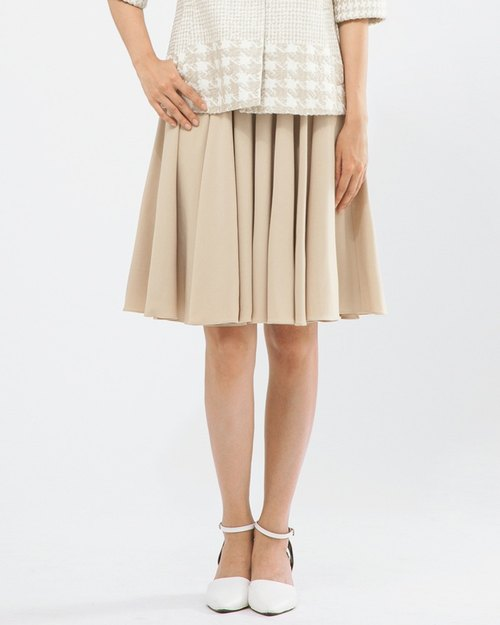 高腰復古過膝圓裙 Elastic High-waist Midi Circle Skirt