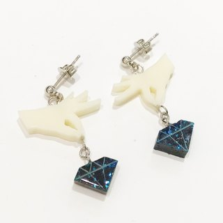 Pinching diamond earrings / earrings