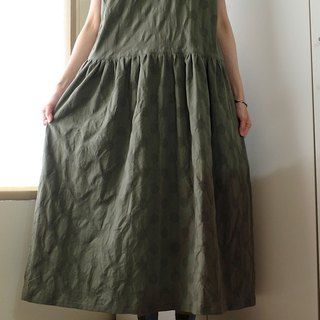 Daily Handmade Green Olive Weave Water Jade Wide Dressed Cotton