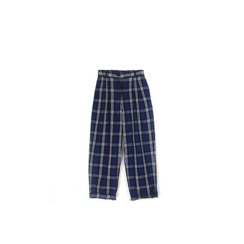 [Eggs] plant vintage midnight blue vintage classic plaid pants
