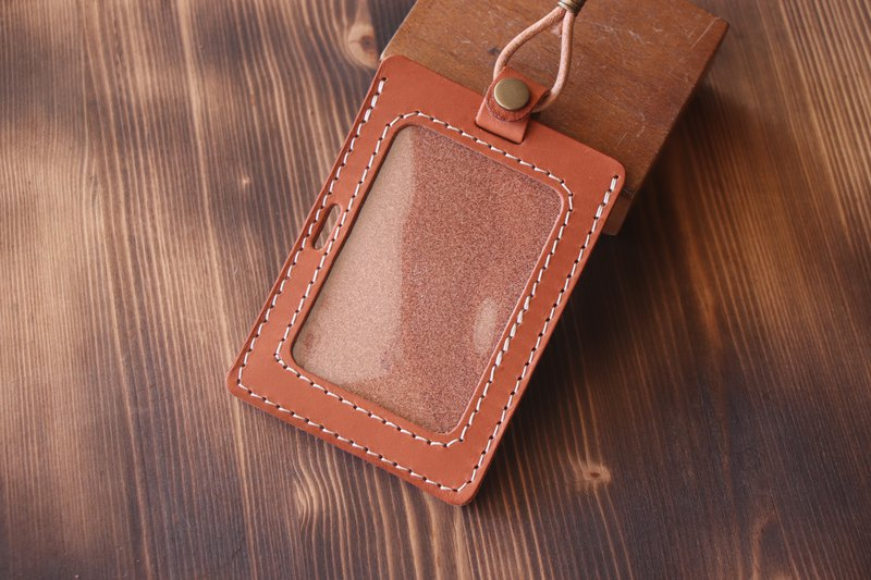 Milk sugar brown | vegetable tanned leather straight and horizontal dual-purpose identification card set | GOGORO card set