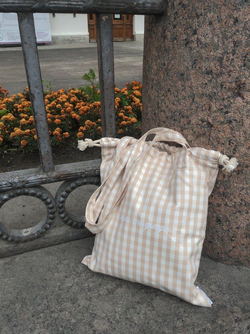 Bon voyage手提包米色方形手提包