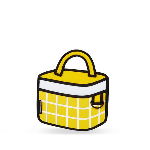 JumpFromPaper Yellow Checked Handbag