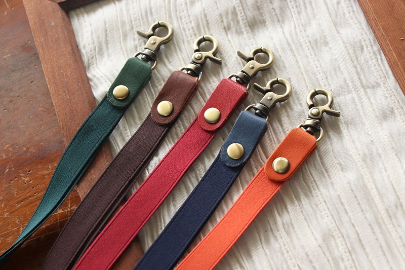 Leather Webbing Neck Strap|A total of six colors