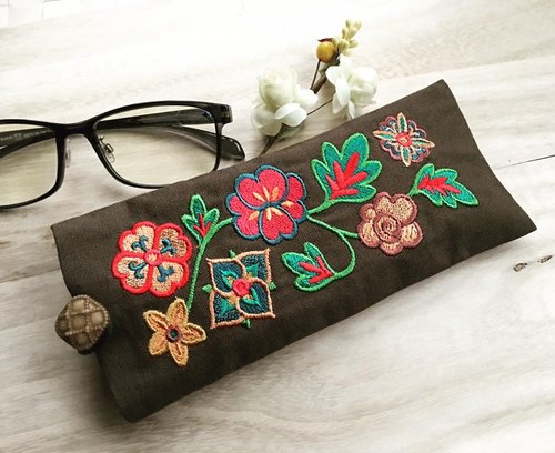 Embroidery glasses bag