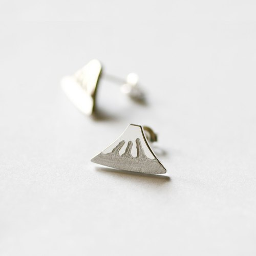 Mt. Fuji earrings Fuji pierced silver 925