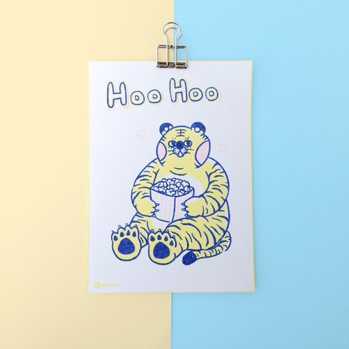 Illustration Postcard - Hoo Hoo Love Popcorn