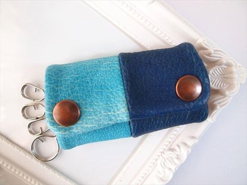 [Pig leather soft key case multi-color leather 15330019