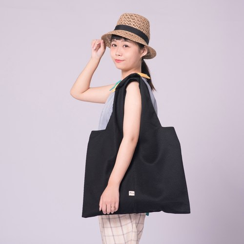 Tier flower cloth bag backpack handbag Zen black