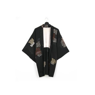 Back to Green-Japan brought back feather weaving glitter embroidered square / vintage kimono