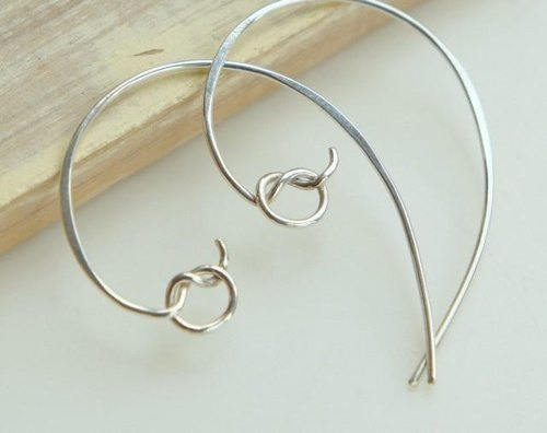 Knot - of Me knot hoop earrings