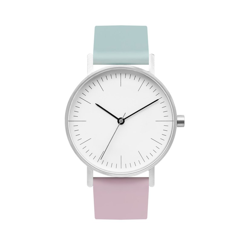 BIJOUONE B001 color double spell watch fashion personality design minimalist style - white dial -1215