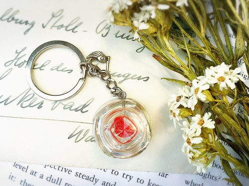 Orgonite purifying energy / power generator / glass / energy rose keychain